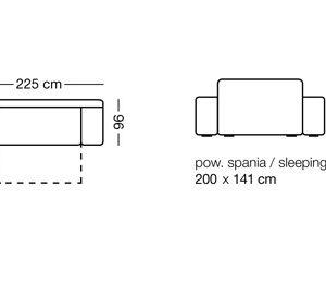 ספה נפתחת דגם – IBIZA